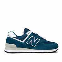 Mens New Balance Ml574 Trainers In Blue- Retro Styled Lightweight Trainer