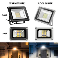 LED Flood Light 10W 30 W For Outdoor Security Garden Yard Floodlight Bright Lamp