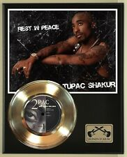 2 Pac Shakur Gold Record display wood plaque
