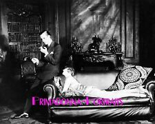 "BASIL RATHBONE & HELEN MENKEN 8X10 Lab Photo 1926 ""Captive"" Rare Scene Censored"