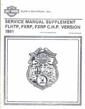 1991 Harley FLHTP FXRP/C.H.P. Police Service Repair Manual Supplement 99483-91SP