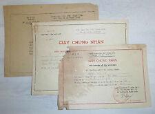 NGUYEN TAN TAI - 1961 to 1963 - 3 x WAR CERTIFICATES - HANOI - VC, North Vietnam