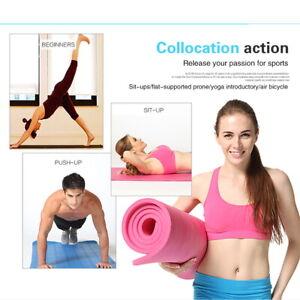 UK Fit Yoga Mat Non Slip Kneeling Pads Pilates Home Gym Fitness Exercise Mats