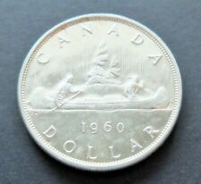 1960 SILVER CANADA $1 DOLLAR COIN, CIRCULATED CONDITION, TONED, LOT#119
