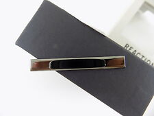 KENNETH COLE $30 No Stone DRESS CASUAL GRAY NECK TIE BAR CLIP SALE P07