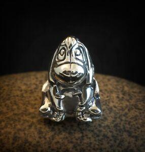 Genuine SOLID 925 Sterling Silver charm bead shy donkey fits bracelet AUM