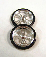 "JDS 17"" Maltese Cross Web Front Drag 1/24 Slot Car Tires"