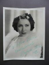 Autografo Mafalda Favero Grande Fotografia 1940 Lirica Musica Portomaggiore