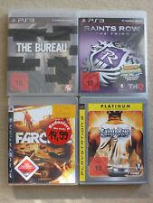 PS3 4 Spiele SAINTS ROW -2 - The Third - Farcry 2 - The Bureau ovp - USK18