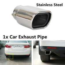 Fashion Chrome 63mm Straight Stainless Steel Exhaust Tail Rear Muffler Tip Pipe