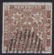 Newfoundland 1862 SG19 5d Chocolate-Brown Very Fine Used Cat. £325.00