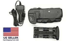 Battery Grip for Nikon D300 D700 D900 DSLR w/ car battery charger cord.