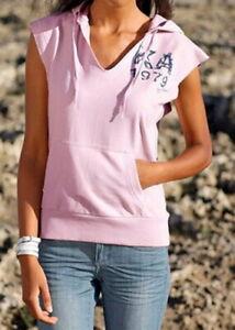 Damen Sweat Pullunder mit Kapuze Kangaroos Größe 32 /34 rosa