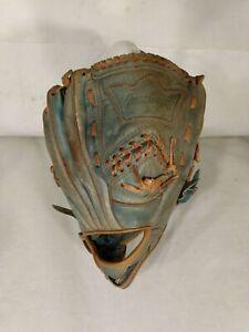 MacGregor Hank Aaron G65B Blue Leather Vintage Baseball Glove Good Condition