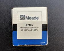 "Meade 1.25"" Electronic Eyepiece telescope refractor reflector eyepiece 07165"