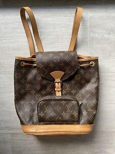 Authentic Louis Vuitton Montsouris MM Monogram Canvas Backpack Bag Vintage