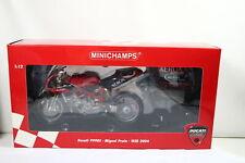 Minichamps 122 040250 DUCATI 999 f04 Miguel Praia WSB 2004 1:12 OVP