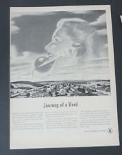 Original Print Ad 1948 BELL TELEPHONE SYSTEM Journey of a Word
