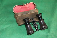 ANTIQUE 1890's LEATHER COVERED FRENCH OPERA GLASSES