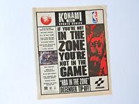 KONAMI NBA In the zone / Advert Reklame Pubblicita Publicite Publicidad Retro Ad