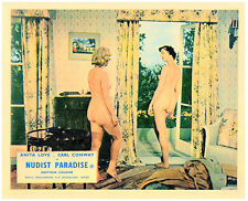 Nudist Paradise 1959 Nature's Paradise two nudist girls in hotel room lobby card