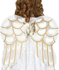 Mujer Niña Oro Blanco Navidad Alas de ángel Disfraz