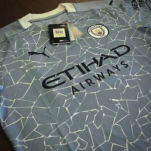 Puma Manchester City Home Jersey 20/21 Stadium Cut Sky Blue Size Mans M  Only