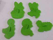 Easter Cookie Cutters Vintage Wilton Green from 1978 Set of 5 Large Unique