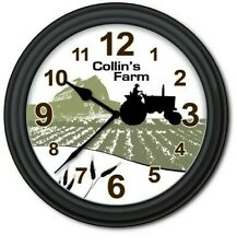 Personalized Farm Tractor WALL CLOCK - Country Kids Home Decor - GREAT GIFT