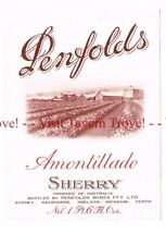 Unused 1940s AUSTRALIA BSydney PENFOLDS AMONTILLADO SHERRY WIne Label