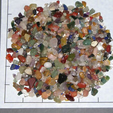 GEMSTONE MIX CHIPS 5-15mm semi-tumbled 1/2 lb bulk stones quartz jasper