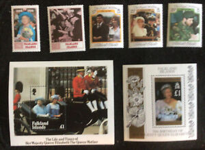 Falkland Islands Royalty - 2 x Sets & 2 Miniature Sheets MNH U/M  c/v £9.75 2018