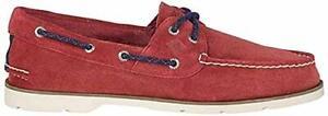 Sperry Men's Leeward 2-Eye Red Suede Boat Shoe, Men Size 9 M  NEW