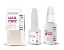 The Edge Nail Silk Fiberglass Wrap Trial Kit Nail Resin Overlays Repairs Natural