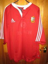 BRITISH LIONS NEW ZEALAND 2005 ZURICH ADIDAS RED & WHITE RUGBY SHIRT UK XXL