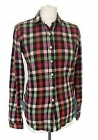 Jack Wills Ladies Multi Check Cotton Flanel Long Shirt Multicoloured Casual UK 8