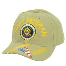 Stati Uniti Blu Navy Veteran Vet Beige Regolabile Cappello Militare a  Strisce 82a986adf46e