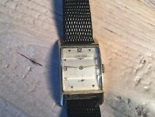 Vintage Longines 14K Solid Gold Watch With Beveled Bezel Runs 30s To 40s