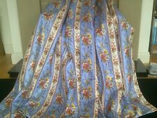 VINTAGE LAURA ASHLEY GLAZED CHINTZ 'CAROUSEL' INTERLINED AND LINED CURTAINS