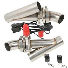 2x 2.5'' 63mm Remote Electric Y-Headers Exhaust Cutout Catback Pipe Valve System