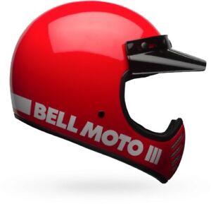 Bell Moto 3 Classic Full Face Helmet Motorcycle Street Bike Dirt Bike