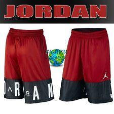 086be9ee6f77 NIKE MEN S SIZE LARGE AIR JORDAN BLOCKOUT BASKETBALL SHORTS RED BLACK AJ6559