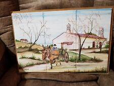 Algarve Portugal Ceramic Tile Kitchen Backsplash Amish Farmer Horse Carriage