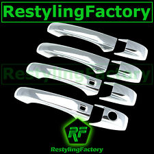 Chrome 4 Door Handle+Smart KeyHole Cover for 11-12 JEEP GRAND CHEROKEE+PATRIOT