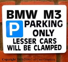Parking Sign for BMW M3 Car-any model Gift/joke Birthday / Xams present him/her