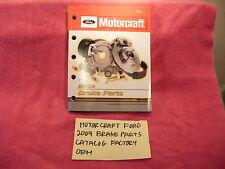 MOTORCRAFT FORD 2009 BRAKE PARTS FACTORY CATALOG PV200L FREE SHIPPING!