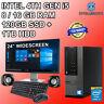"""i5 4th Gen DESKTOP TOWER PC & 24"""" TFT COMPUTER SET 16GB WIN 10 120GB SSD 1TB HDD"""