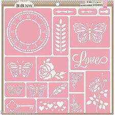 "Pochoirs adhésifs - Bobunny - ""Love"" (30x30 cm)"