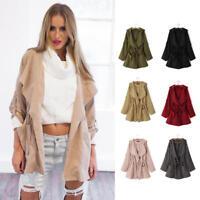 Women Fashion Hooded Long Coat Jacket Trench Windbreaker Parka Outwear S-5XL