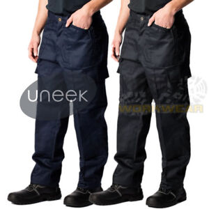 Mens Work Cargo Pocket Combat Workwear Black Navy Army Trousers Military Pants